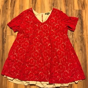Dresses & Skirts - NWOT Red Lace Dress